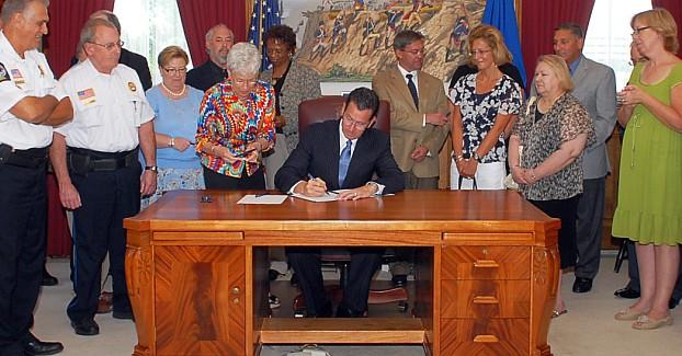 Governor Dannel Malloy signed several bills into law on May 12, 2014.