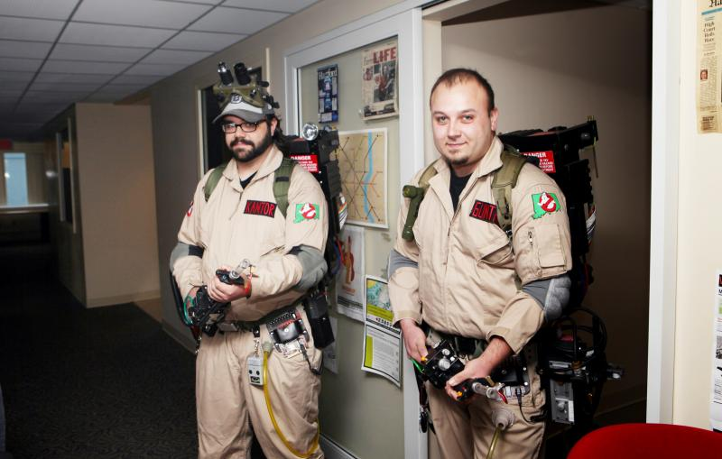John Kantor and Eric Gunther are members of the Connecticut Ghostbusters.  It's a nonprofit charity and costuming group, servicing Hartford, New Haven and Fairfield counties. They've appeared at various comic cons for charity.