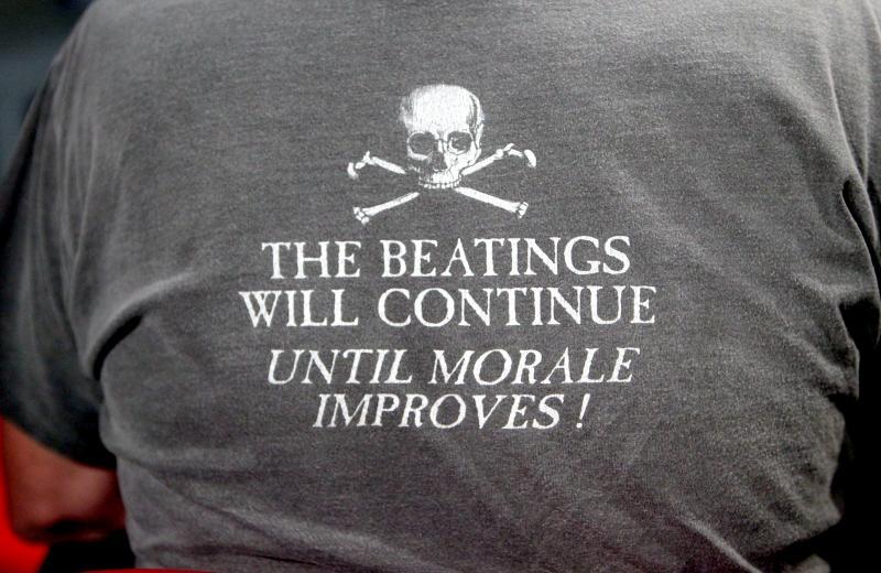 Rand Cooper's shirt.