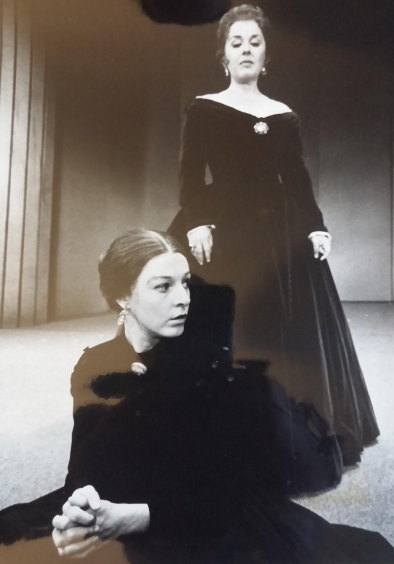 "Jane Alexander and Sada Thompson in ""Mourning Comes Electra,"" 1971."
