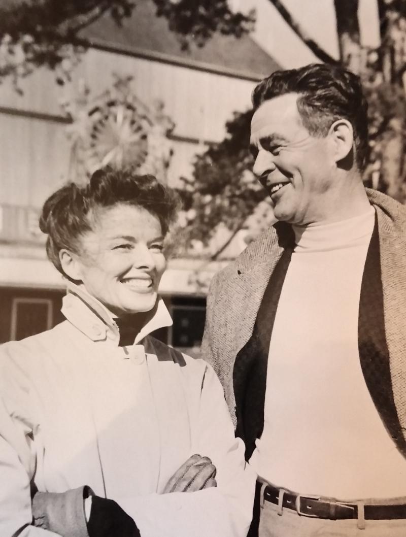 Katharine Hepburn and Robert Ryan in 1960.