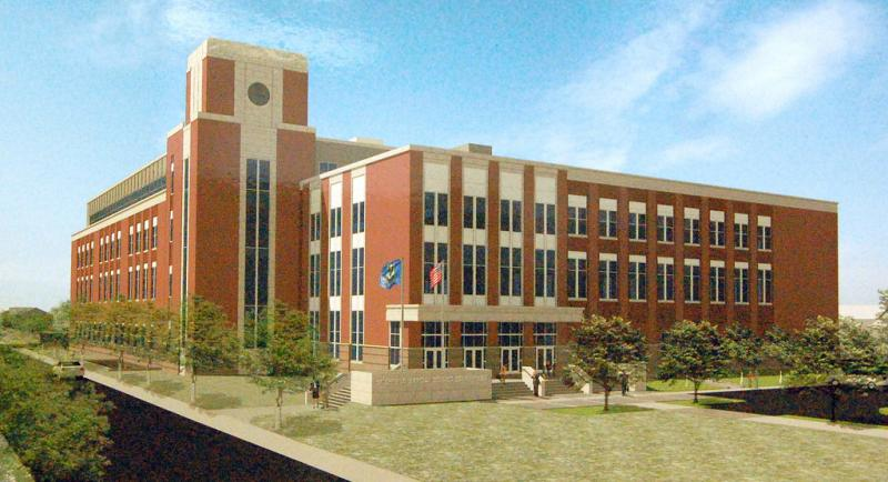 A rendering of a new Litchfield County Courthouse project in Torrington.