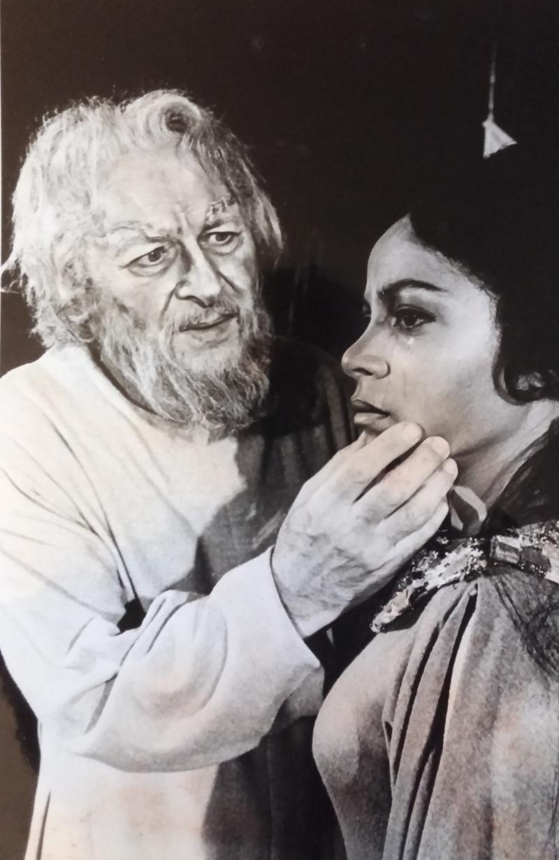 "Morris Carnovsky and Ruby Dee in ""King Lear,"" 1965."