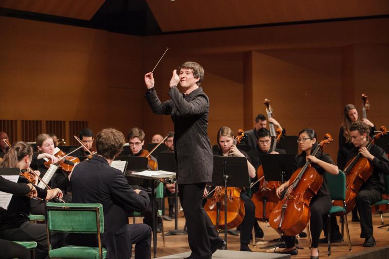 Nadya Potemkina conducts Wesleyan University Orchestra.