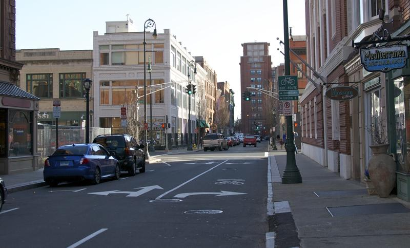 A New Haven street.