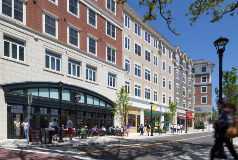 Storrs Center in Mansfield  is a town center and main street corridor development that includes residences and retail shops.