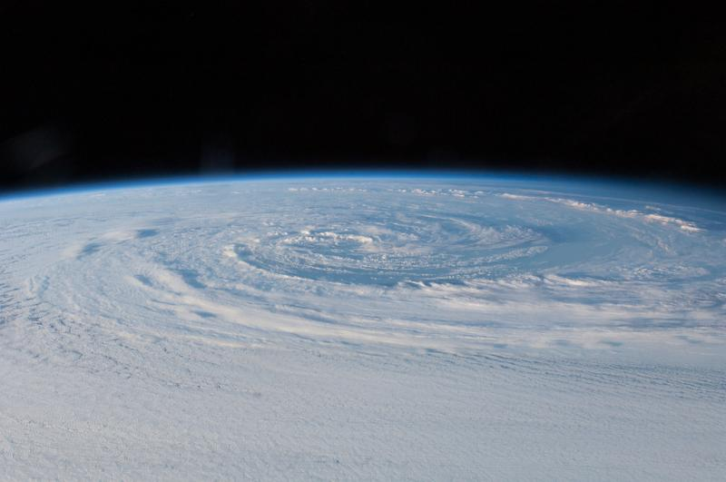 International Space Station view of a winter storm forming in Australia.