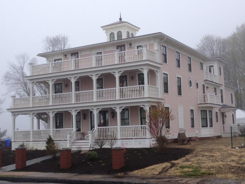 The Three Stories guest house is across the street from the Inn's main property.