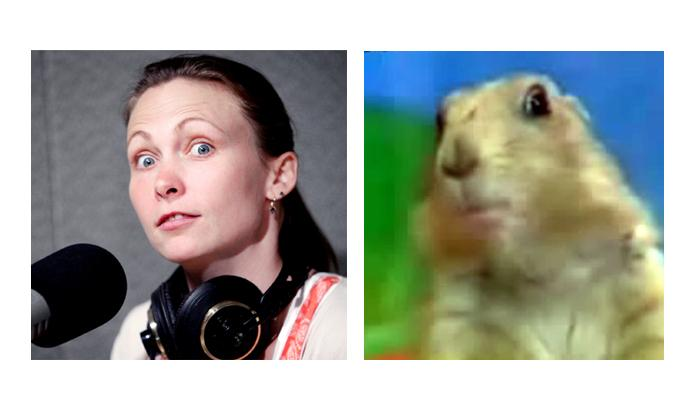 Theresa Cramer as the Dramatic Squirrel.