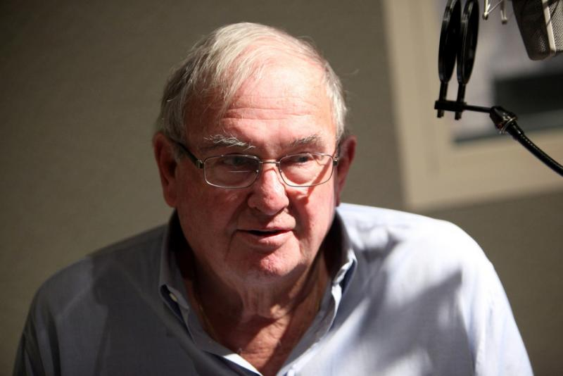 Former Governor and U.S. Senator Lowell Weicker during an earlier visit to WNPR.