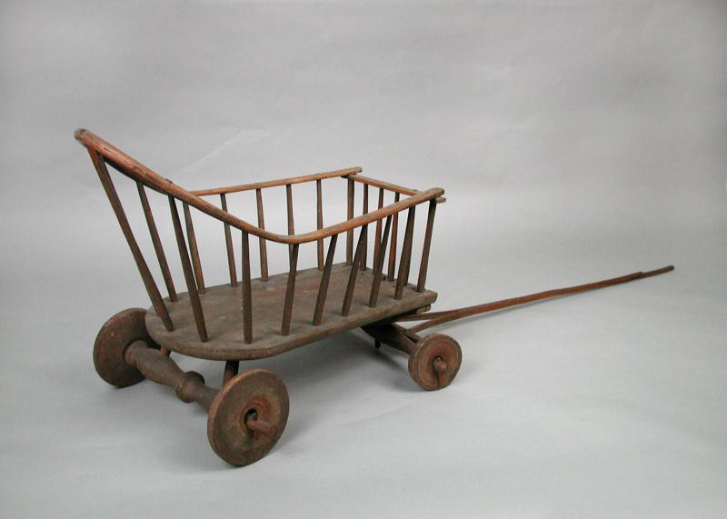 Child's wagon in the Windsor style, made by Ebenezer Faxon of West Hartford, date unknown.  Connecticut Historical Society, gift of Julia Faxon.