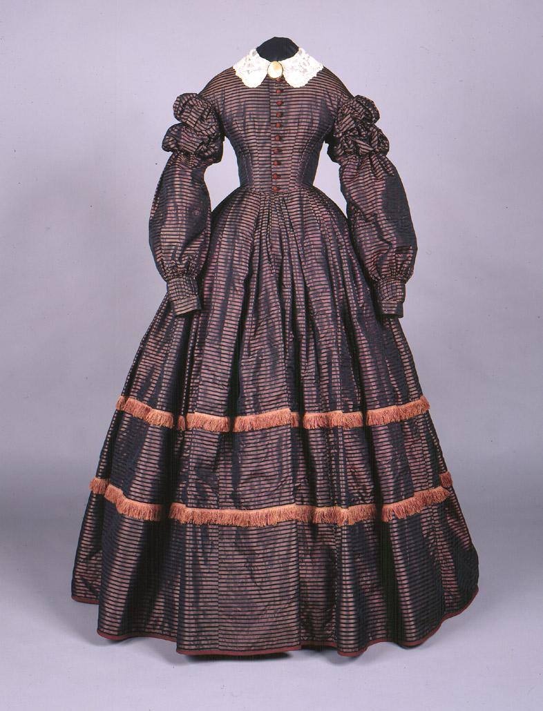 Dress. About 1860. Gift of Miss Elizabeth Yale Hall.