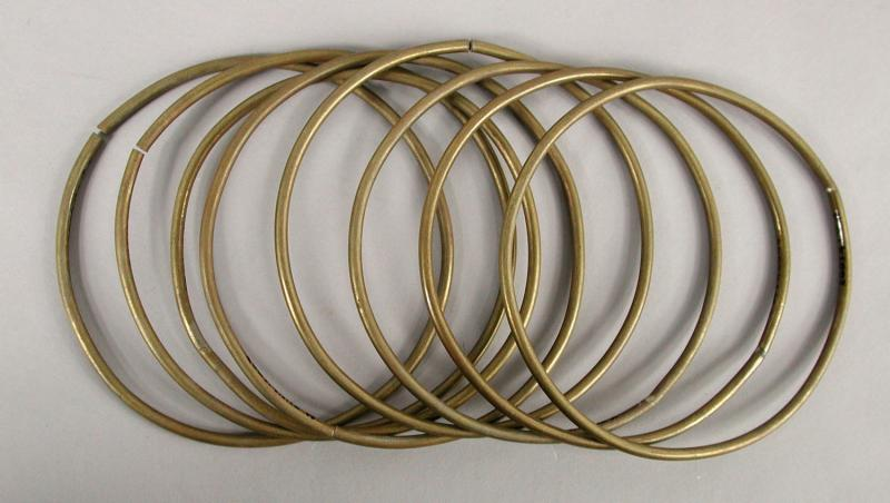 Set of Trick Rings. Owned by Albert Walker, 1858.   Rings similar to these are still used by magicians.