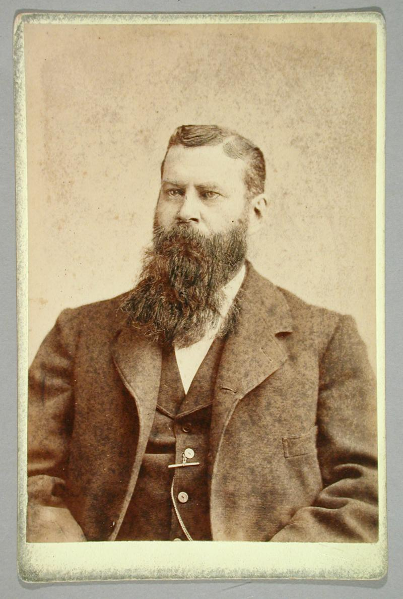 Albert G. Walker.  Photograph by Charles T. Stuart, ca. 1885.  Walker was a much younger man when he performed his magic acts.