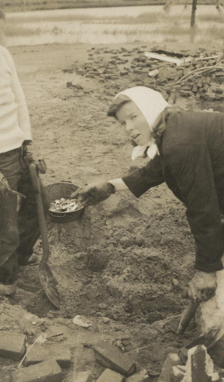 Digging through the debris, Katharine Hepburn recovered the family silver and her mother's tea service.