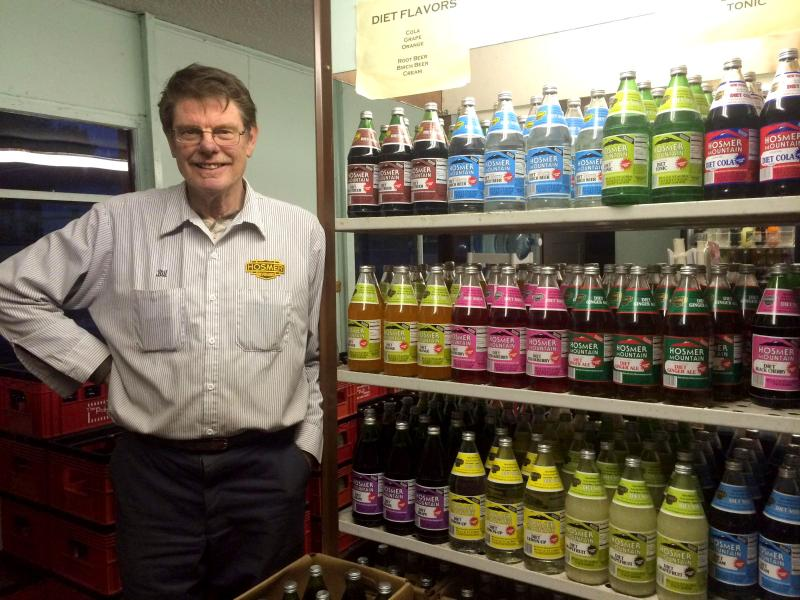 Bill Potvin at Hosmer Mountain Soda continues to sell flavors that are uniquely New England.
