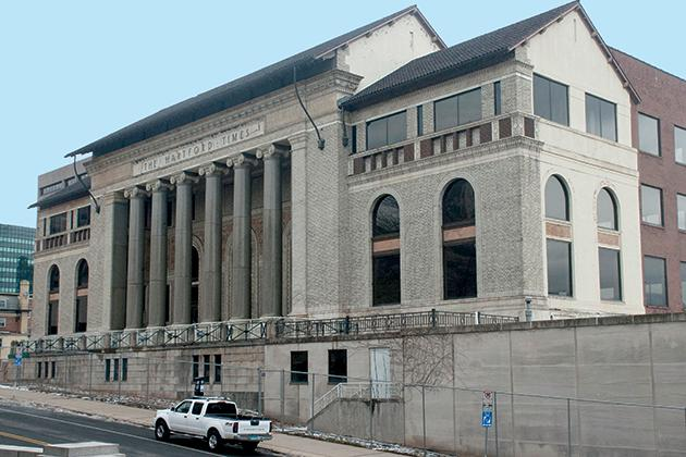 The former Hartford Times building on Prospect Street will be refurbished and incorporated into a UConn Hartford campus.