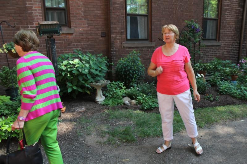 Judy Secord (right), at her home in Frog Hollow, Hartford.
