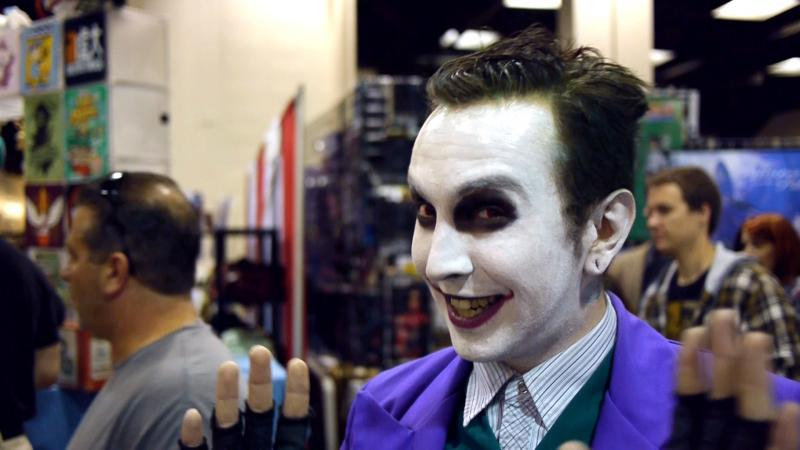 The Joker at Hartford Comic Con.