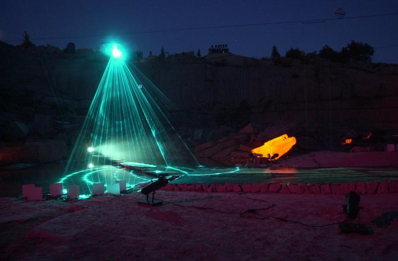 "A performance of ""Terra Lumina"" in 2001, also in the Stony Creek Quarry."