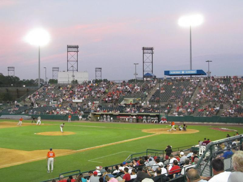 The New Britain Rock Cats stadium.