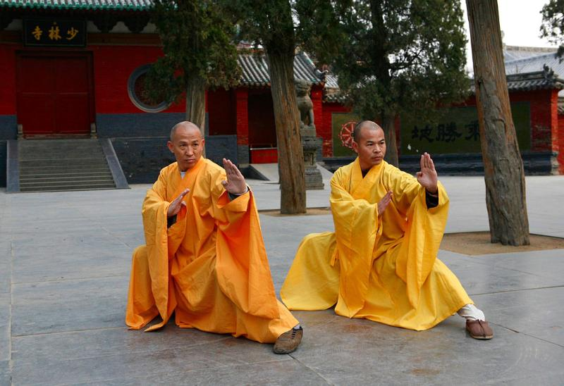 Two grandmasters of the Shaolin Temple Shi DeRu (Shawn Xiangyang Liu) and Shi DeYang (Shi WanFeng) who are two decedent disciples of the late Great Grand Master of the Shaolin Temple Shi SuXi (aka: His Holiness Upper Su and Lower Xi)