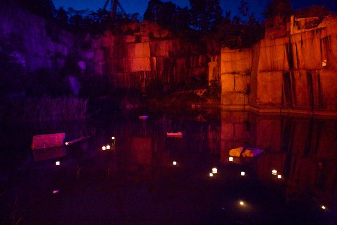 "The quarry, prepared for this year's ""Terra Tractus."""