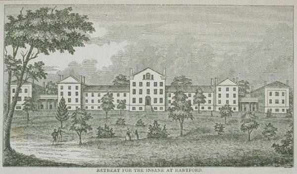 The Institute of Living, formerly the Hartford Retreat for the Insane circa 1850