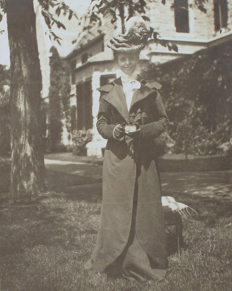 Maude Adams at the Goodwin Mansion on Woodland Street in Hartford.