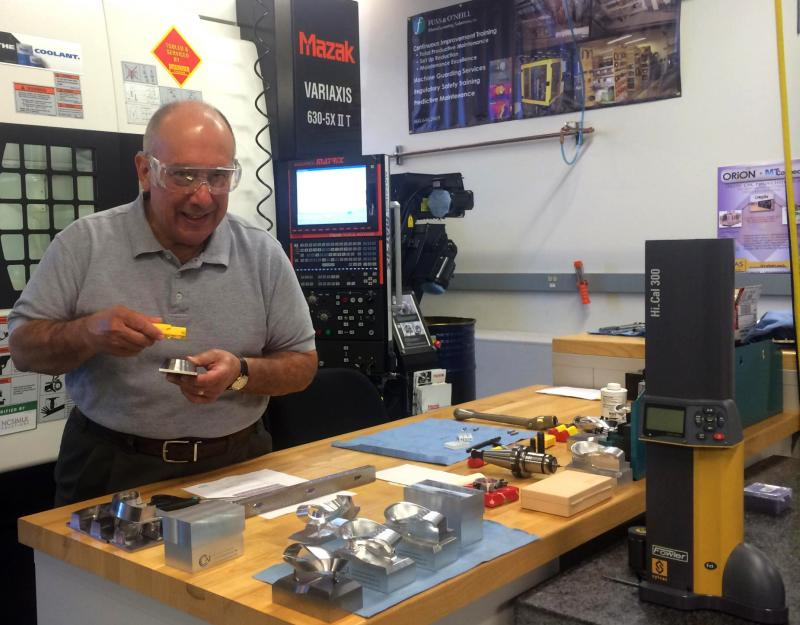 Bob Torrani, director of the Connecticut Center for Advanced Technology's (CCAT) Advanced Manufacturing Center in East Hartford, explains how CCAT helps smaller firms to optmize new technology.