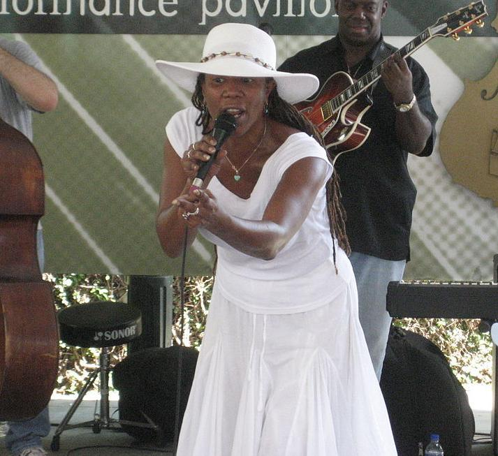 Charmaine Neville at Satchmo Summer Fest, New Orleans
