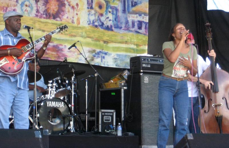 Charmaine Neville at the Mid-City Bayou Boogaloo in New Orleans.