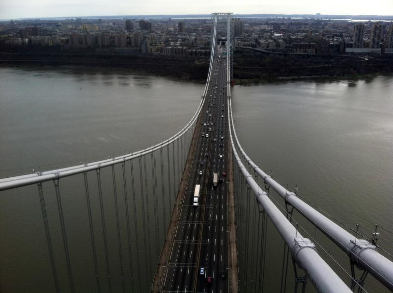 The George Washington Bridge from above.