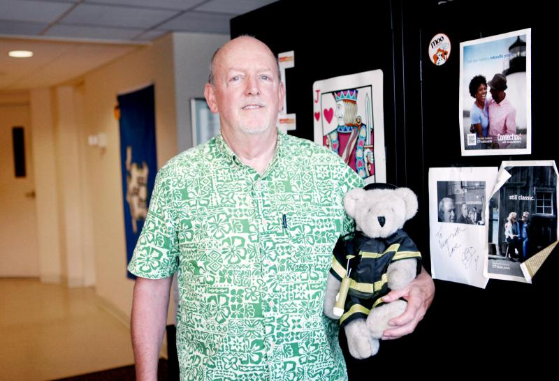 Marc Dodge's mother bought this 1980 Vermont Teddy Bear Fireman for his father after he retired as a fire chief. It stayed with his parents until they both died, and now resides on his bed.