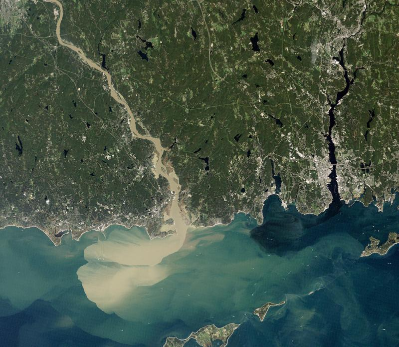 Nearly a week after Hurricane Irene drenched New England with rainfall in late August 2011, the Connecticut River was spewing muddy sediment into Long Island Sound.