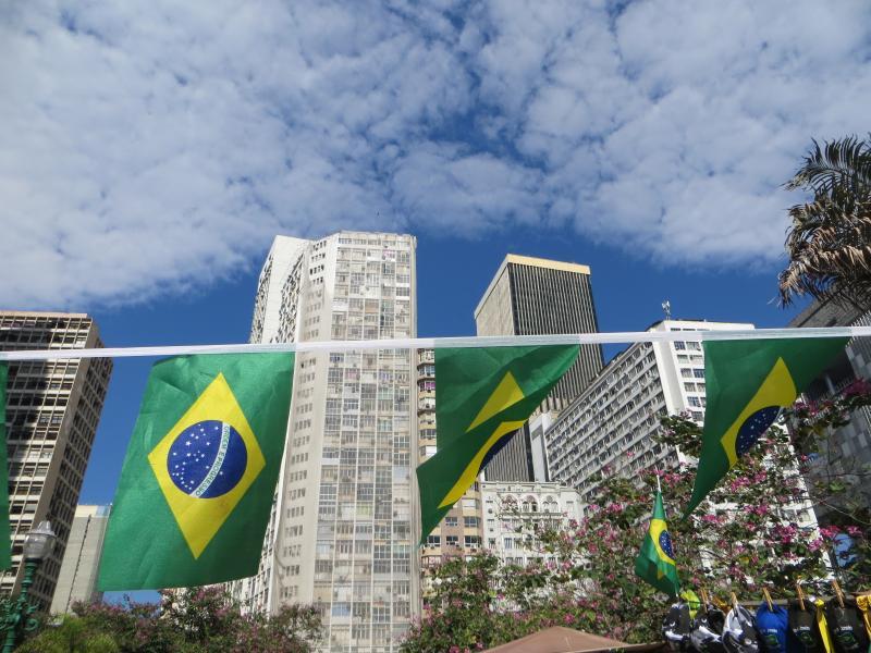 A view of Rio de Janeiro in Brazil.