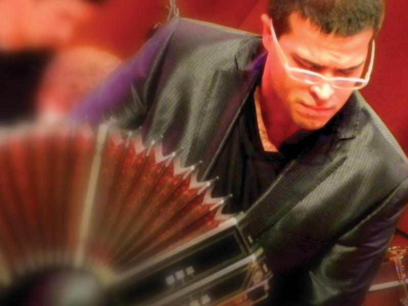 World Renowned bandoneonist JP Jofre performs Friday night in Milford.
