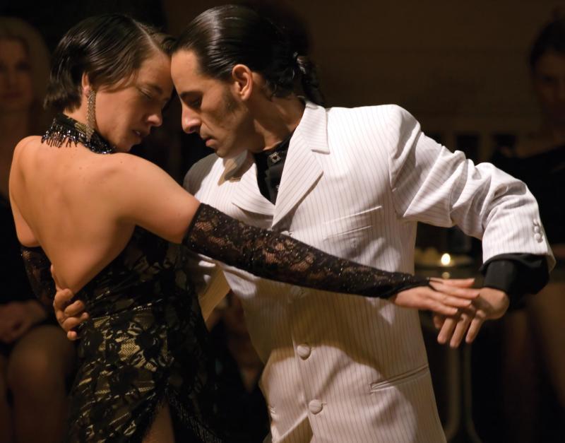 Argentinean Tango partners Pablo Nievas and Valeria Zunino perform at Friday's Tango Night.