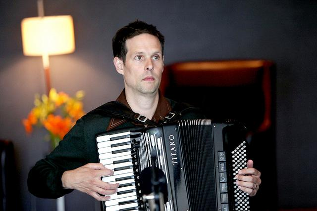 Will Holshouser is an accordion player and founder of the accordion/guitar/tuba trio, Musette Explosion