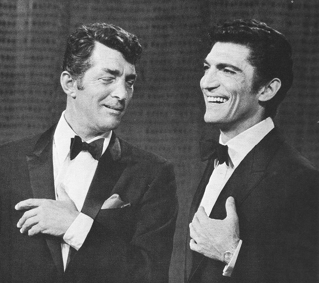 "Sergio Franchi goofing around on ""The Dean Martin Show""."