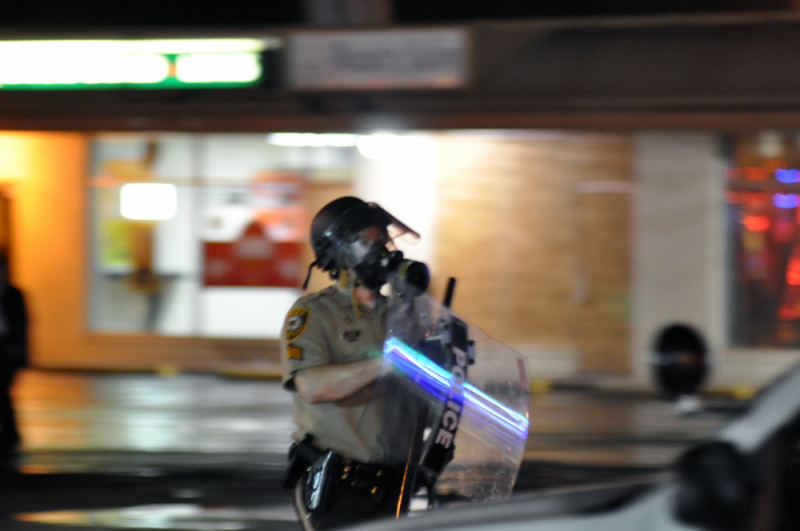 A police officer in Ferguson, MO.