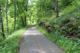The road built by Curtis Veeder as it appears today.