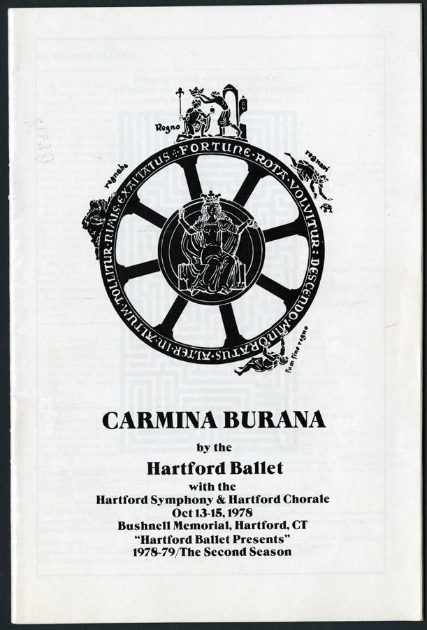 Theater program cover for Carmina Burana, 1978.