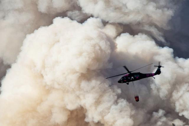 The U.S. Army battled a wildfire over Yosemite National Park last summer.