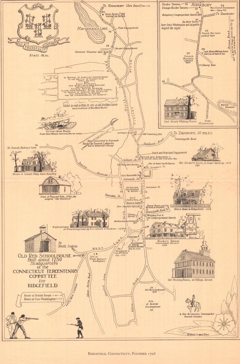 Ridgefield, Connecticut, Founded 1708.