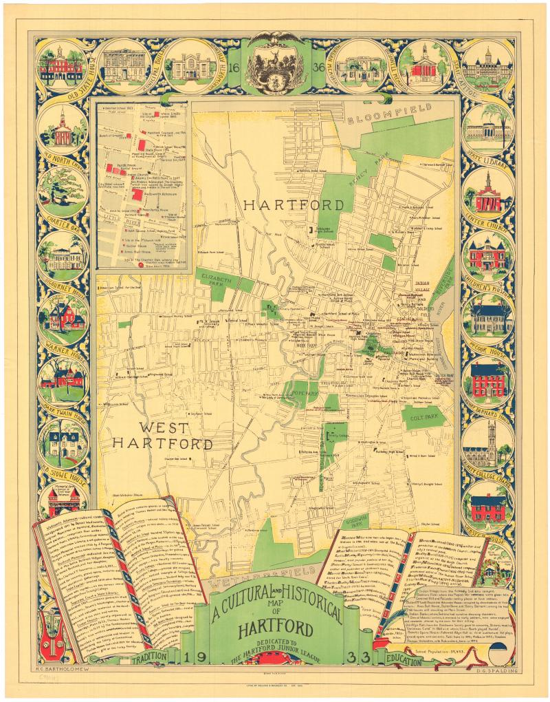 A Cultural and Historical Map of Hartford.
