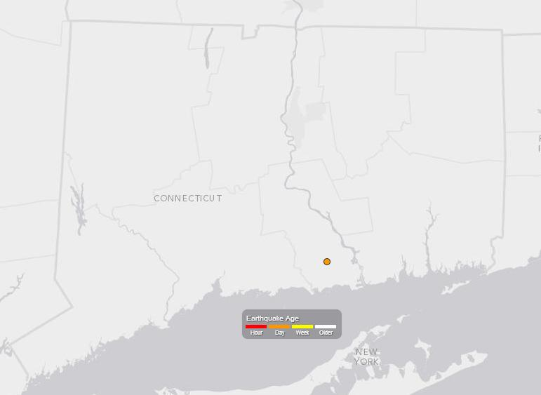 A 2.7-magnitude quake was felt by some Connecticut residents early Thursday morning.