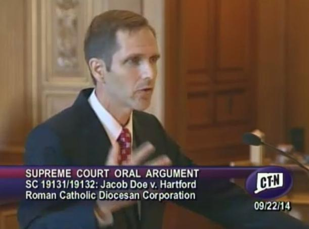 Attorney Hugh Hughes represented plaintiff Jacob Doe in oral arguments before the CT Supreme Court.