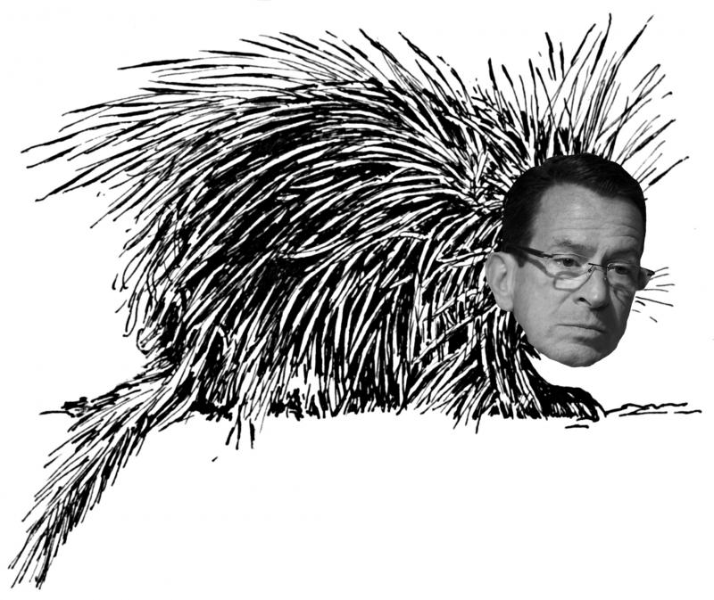 "Gov. Dannel Malloy said on Where We Live, ""I'm a porcupine."""