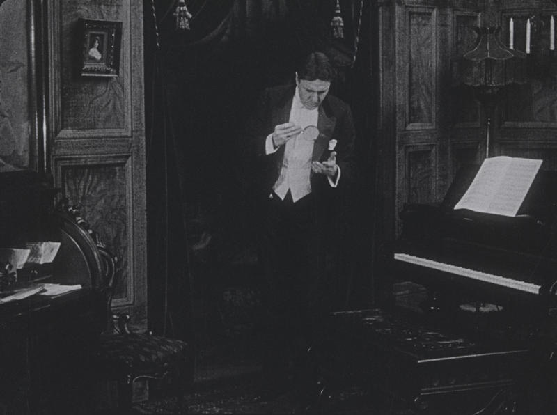 """A screenshot from the recently discovered 1916 silent film """"Sherlock Holmes""""."""